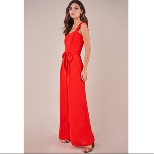Sugarlips Red Wide Leg Jumpsuit